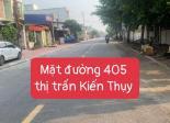 Bán Lô đất 90m2 mặt đường 405 Thọ Xuân, thị trấn Núi Đối huyện Kiến Thụy Hải Phòng