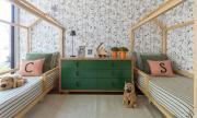 Trang trí phòng ngủ siêu dễ thương cho cặp song sinh