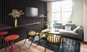 Sử dụng nội thất sáng tạo trong căn hộ 44 m2